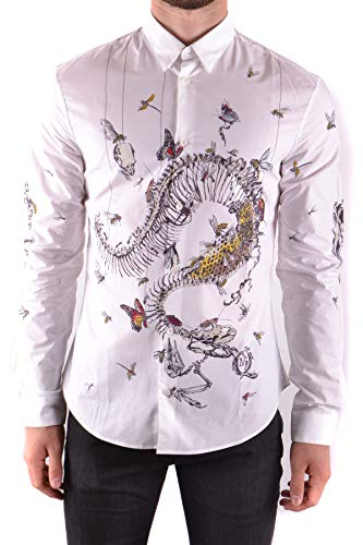 Mcq Alexander Mcqueen Men's Mcbi206043o White Cotton Shirt