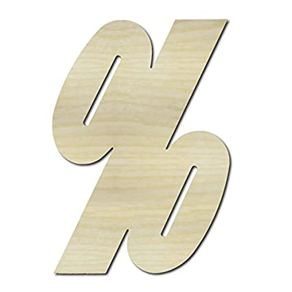 Unfinished Wooden Letters Percent Sign 36 Tall Large Wall Wood Letters English Greek Numbers Punctuation Letters For Home Bedroom Office