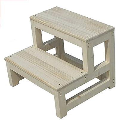 RANRANJJ Taburete de madera Escalera de 2 peldaños Escalera escalonada Escalera de escalada para el hogar Escaleras de madera maciza: decórelas para combinar con la cocina, sala de estar, baño, cuarto: Amazon.es: