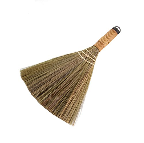 Arbor Home MXY Soft Handmade Broom With Solid Wood Handle Retro Nature No Static Electricity Sweeping Broom Sofa, Car, Corner And More