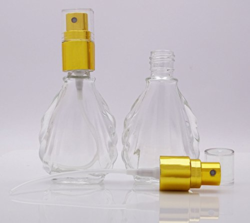 1eeebe612546 Lot Of 6 Empty Clear Glass Spray Bottles Atomizer Spray Perfume ...