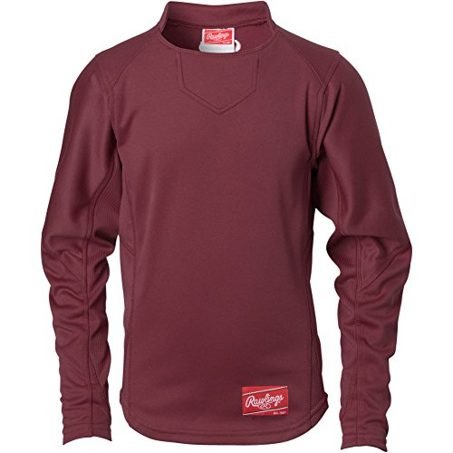 - Rawlings Youth Long Sleeve Dugout Fleece Pullover.