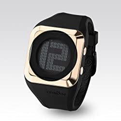 Zerone HD Black IP Rose Gold Digital Watch