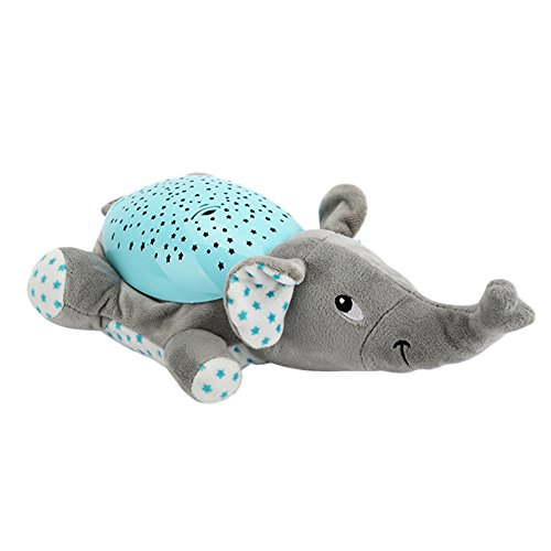 Amazon.com : Musical Projector, Luerme Projection Night Light Plush Animal Musical Toy with 62 Soothing Songs and Beautiful Light (Elephant) : Baby