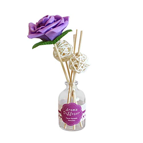 50ML Scented Oil,Reed Oil Diffusers for House Office Room Indoor Outdoor, Glass Bottle with Natural Sticks,Gift for Your Parents Friends Wife Husband Lover,Refreshed Oil (Lavender)