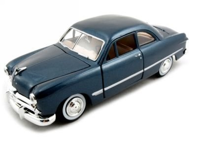 - Showcasts 1949 Ford Coupe Diecast Car Model 1/24 Blue Motormax