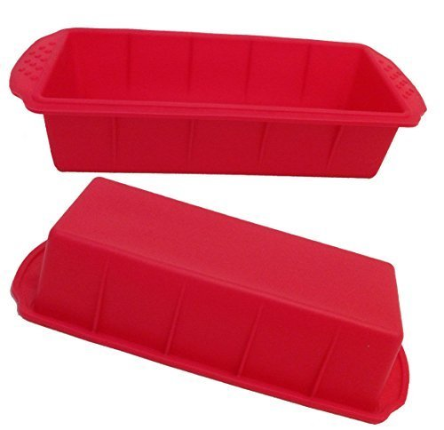 Original GMMH Silikonbackform Kastenform Backform Kuchenform Brotbackform Königskuchenform (rot )