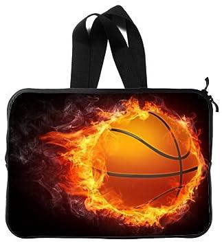 Alta calidad Cool baloncesto mango resistente al agua neopreno funda para portátil 15 pulgadas Bolsa de ordenador portátil carcasa (doble lados): Amazon.es: ...