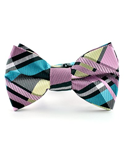 Black Banded Glass Shade (Littlest Prince Couture Bubble Gum and Black Plaid Youth/Adult Bow Tie 8 Years - Adult)