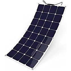 GIARIDE 100W 18V 12V Solar Panel SunPower Flexible Bendable Lightweight Waterproof Solar Charger Module for RV, Boat, Yacht, Cabin, Tent, Car, Trailer, Camp and 12V Battery