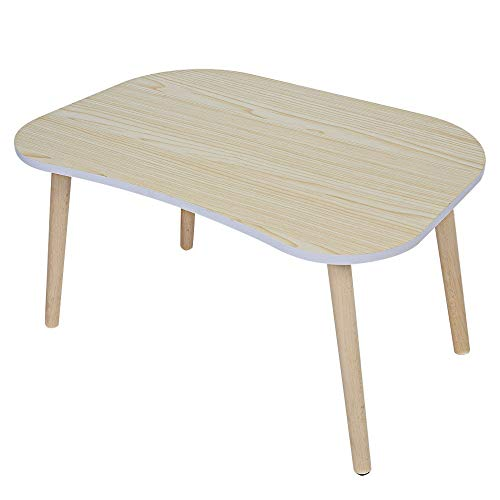 Bed Desk Laptop Living Room Bay Window Table Solid Wood Legs,Curved  Recessed Design,