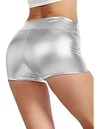 Womens Sexy Shiny Metallic High Waist Shorts Made In USA S-3XL