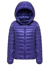 Sawadikaa Women's Packable Puffer Padded Hooded Lightweight Short Down Jacket