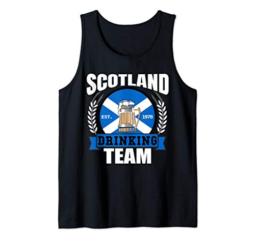 Scottish Beer (Scotland Drinking Team Funny Scottish Flag Beer Saltire Gift Tank Top)