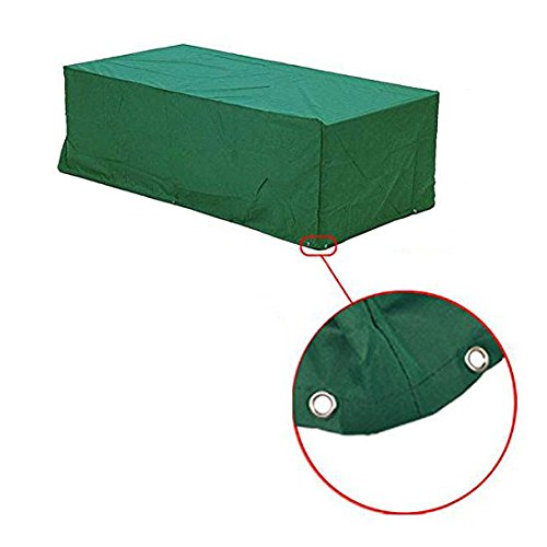 Outdoor dust cover - SODIAL(R) Waterproof Outdoor Wicker Rattan Garden Bench Furniture Protective Cover Patio Tables & Chairs Cover Wicker Rattan(M) (Fixing Wicker Chairs)