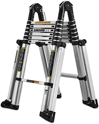Escalera extensible telescópica Escalera de extensión de aluminio extensible telescópica portátil, Escalera plegable multiusos con marco en A para el hogar Loft Ingeniería de oficina, 200 kg Capaci: Amazon.es: Hogar