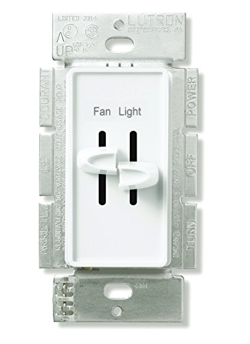 Lutron Skylark Fan Control and Light Dimmer for Incandescent and Halogen Bulbs, Single-Pole, S2-LF-AL, Almond by Lutron