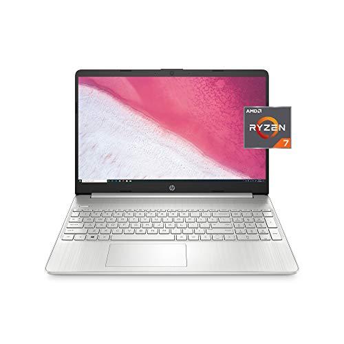 HP 15 Laptop, AMD Ryzen 7 3700U Processor, 8 GB RAM, 256 GB SSD, HD Display, Windows 10 Home (15-ef0022nr, Natural…