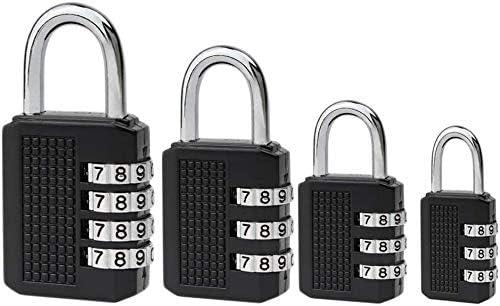,Mmester Wetterfestes Metall /& Plated Steel Combination Lock f/ür Schule Gym /& Sports Locker Hasp Cabinet /& Storage Kombinationsschloss Reisekoffer. Zahlenschloss 4-St/ück