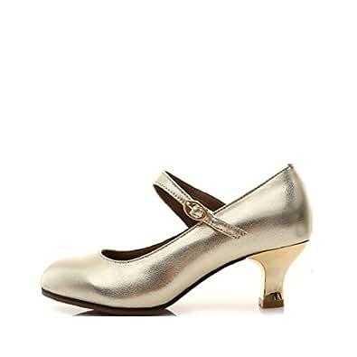 0f572bce Wxmddn Zapatos de Baile Latino de Cuero Zapatos de salón de Baile de Fondo  Suave de