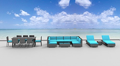 Urban Furnishing.net - 19 Piece Outdoor Dining and Sofa Sectional Patio Furniture Set (Urban Patio Garden)