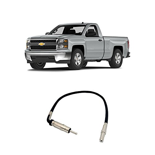 - Fits Chevy Silverado 2007-2014 Factory Stereo to Aftermarket Radio Antenna Adapter