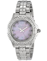 Bombshell Women's BS1074-ST./PINK Harmony Swarovski Crystal Stone Case Stainless Steel Bracelet Watch