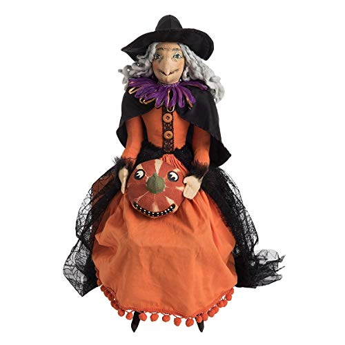 Gathered Traditions Gilda Witch with Pumpkin 19