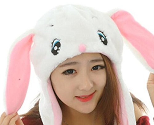 Dalino Creative Cute Cartoon Performance Headwear Plush Animal Headgear (White Rabbit) by Dalino (Image #5)