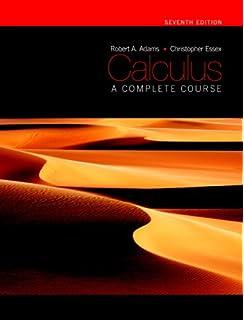 Calculus: a complete course: robert a. Adams: 9780321781079.