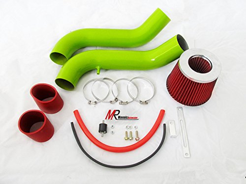 94 95 96 97 98 99 00 01 Acura Integra GSR 1.8L GREEN Piping Cold Air Intake System Kit with Red Filter Acura Integra 1.8l T Type