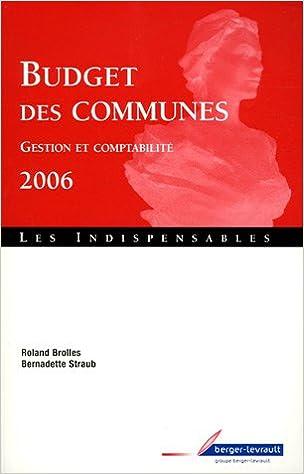 Budget des communes : Gestion et comptabilité epub pdf