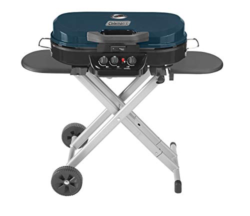 (Coleman RoadTrip 285 Portable Stand-Up Propane Grill, Blue (Renewed) )