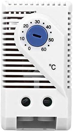 Thermostat compact 0-60/°C SENRISE R/églable M/écanique R/églable Contr/ôleur de Temp/érature Electrique Bouton Rouge