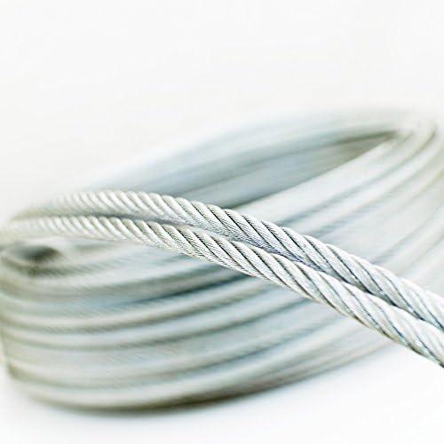 5m c/âble 14mm acier zingu/é EN12385-4 6x37+FC