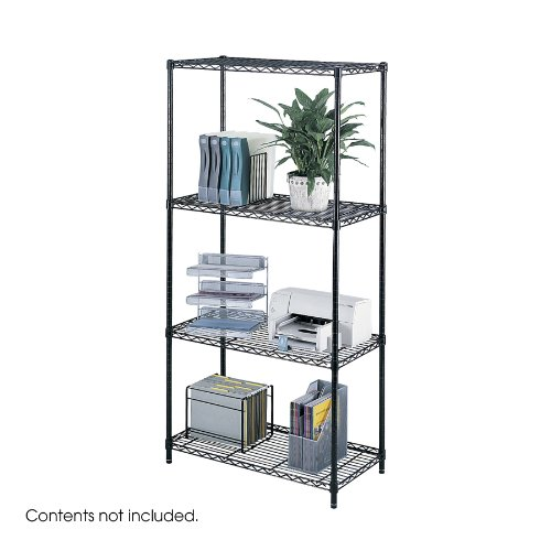 """Review Safco Products 5285BL Industrial Wire Shelving Starter Unit 36""""W x By Safco Products by Safco Products"""
