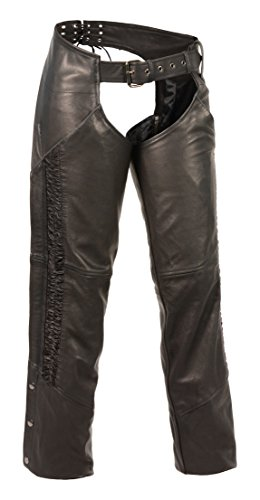 Milwaukee Leather Women's Lightweight Chap with Crinkled ...
