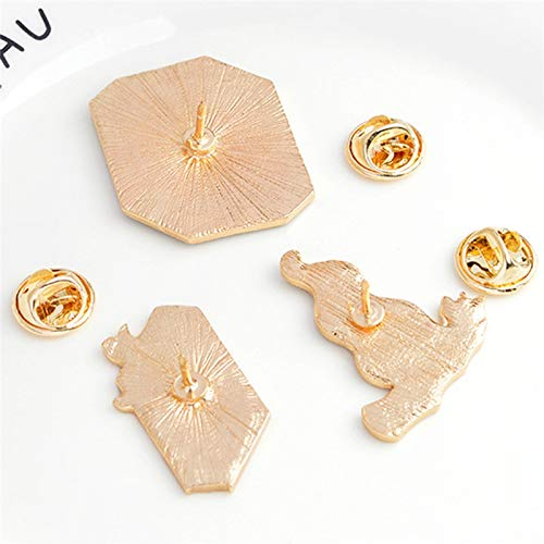 3Pcs//Set Magic Gesture Brooch Pin Badge Emblem Corsage Book Fire Witchy Denim Buckle Shirt Fashion Gift for Friend
