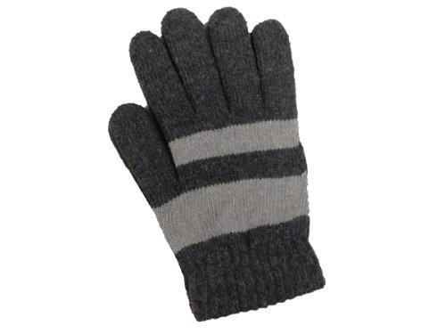 飼い慣らすマーガレットミッチェル故障裏起毛五本指暖かい手袋 NO.MST1318 寒さ対策 防寒グッズ グローブ ニット手袋 手袋 ボーダー 男女兼用