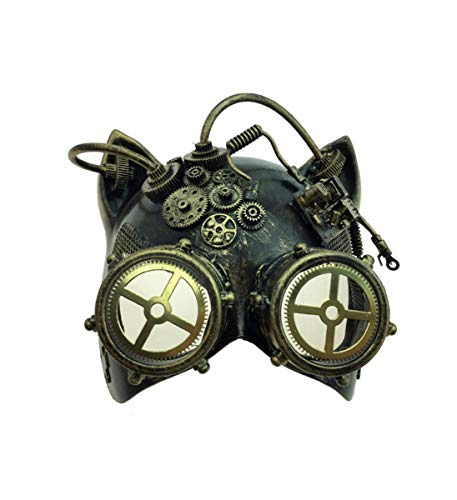 b48cdf2e4be44 KBW Adult Unisex Steampunk Silver Cat Ear Helmet Mask with Goggles