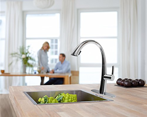 Cosmo COS-KF863C Modern Luxury High Arc Pull-Down Tap Mixer Kitchen Faucet, Chrome by Cosmo (Image #5)