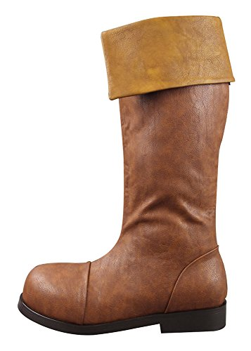 Mtxc Men's Legend of Zelda: Link's Awakening Cosplay Link Boots Brown US 10