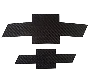 2 PCS Black Carbon Fiber Emblem Sticker for Chevrolet Cruze 2009-2014