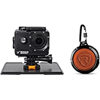 WASPCAM 9940 Wi-Fi Waterproof Action Camera HD USB Action Cam+Bluetooth Speaker
