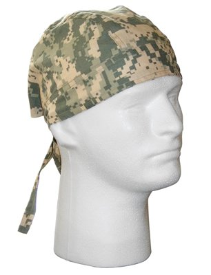 ACU Digital Camo Head Wrap Do-rag (2 Pack)