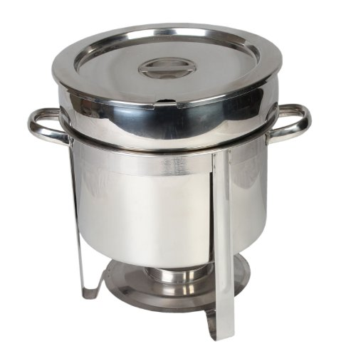 Chafer Stainless - Excellanté Stainless Steel 11 Quart  Marmite Chafer