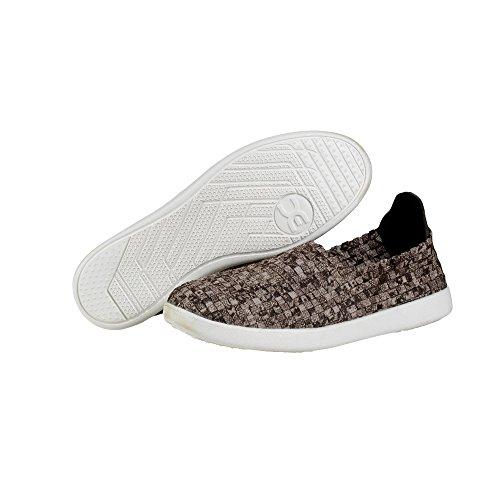 Dude Shoes Women's E-last Simple Beige Python Slip On Black, Brown & Beige