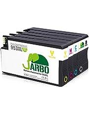 JARBO 953XL Cartucce compatibili HP 953 XL Alta Capacità per HP OfficeJet Pro 8715 8710 8720 8730 8740 8210 8218 7720 7730 7740 8725 8728 8718, Confezione da 4 (1 Nero,1 Ciano,1 Magenta,1 Giallo)