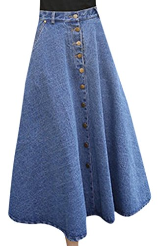 Used, Zago Women's Denim Skirt Wild A-line Maxi Long Skirt for sale  Delivered anywhere in USA