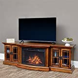 Comfort Smart Graham Infrared Electric Fireplace Entertainment Center in Toasted Almond- CS-26MM-TA